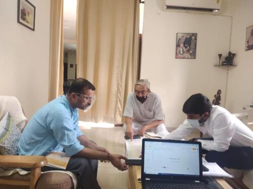 Meeting with Honorable Padma Sri Prof. J. S. Rajput Ji